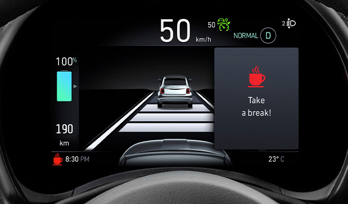 Attention Assist, Lane control, Traffic sign recognition, Autonomous emergency braking